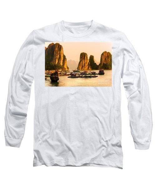 Halong Bay - Vietnam Long Sleeve T-Shirt by Luciano Mortula