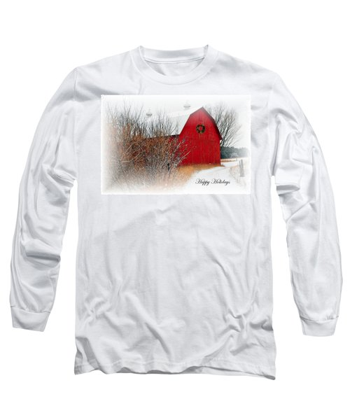 Long Sleeve T-Shirt featuring the photograph Happy Holidays by Terri Gostola