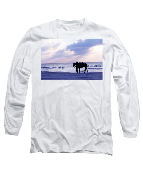 Walking Home From A Long Day Long Sleeve T-Shirt