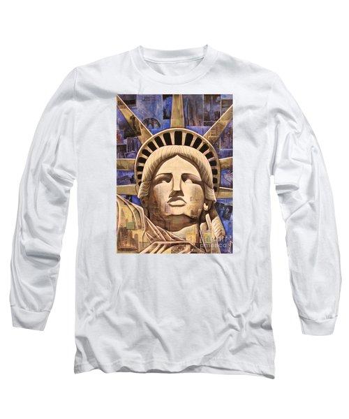 Lady Liberty Long Sleeve T-Shirt by Joseph Sonday