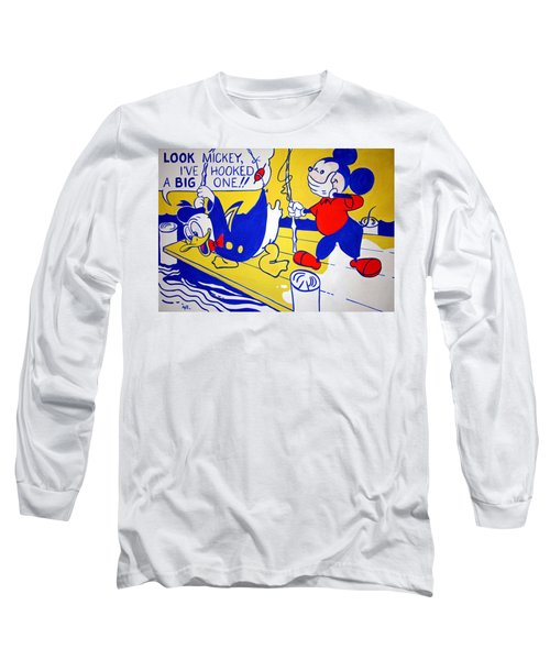 Lichtenstein's Look Mickey Long Sleeve T-Shirt by Cora Wandel