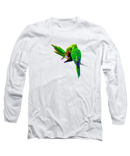 Long Sleeve T-Shirt featuring the photograph Love Birds by J Anthony