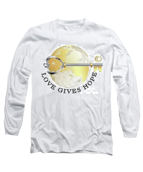 Long Sleeve T-Shirt featuring the digital art Love Gives Hope by Laurie L