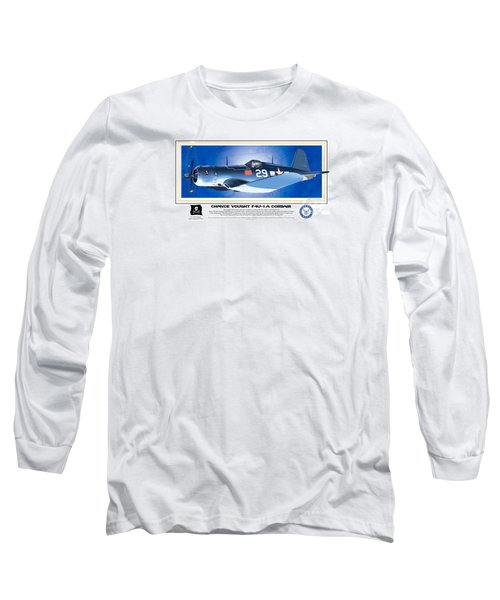 Navy Corsair 29 Long Sleeve T-Shirt by Kenneth De Tore