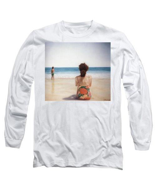 On The Beach Long Sleeve T-Shirt by Rich Milo