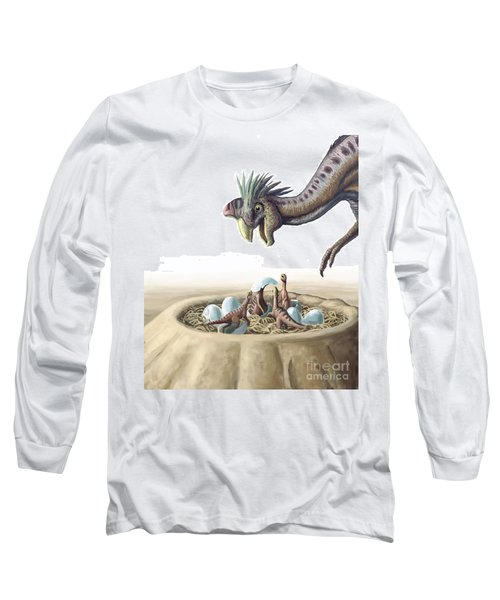 Oviraptor And Nest Long Sleeve T-Shirt