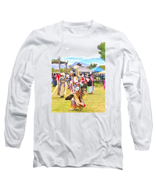 Long Sleeve T-Shirt featuring the photograph Paiute Powwow by Marilyn Diaz