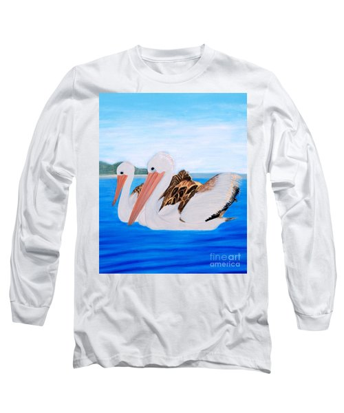 Pelicans.   Inspirations Collection. Long Sleeve T-Shirt