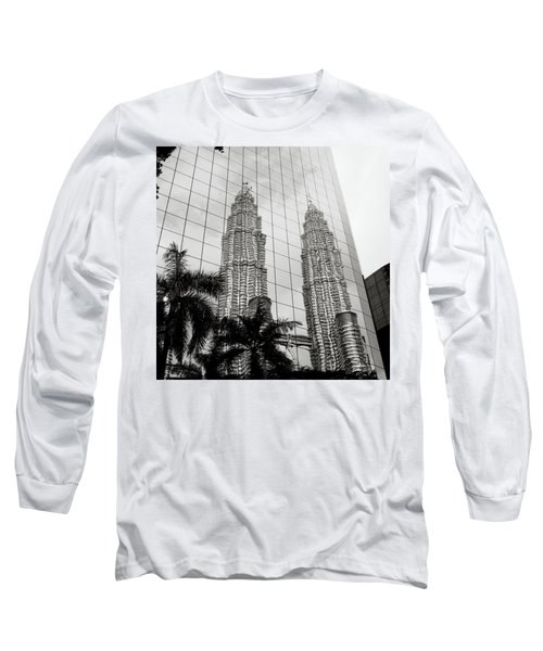Petronas Towers Reflection Long Sleeve T-Shirt