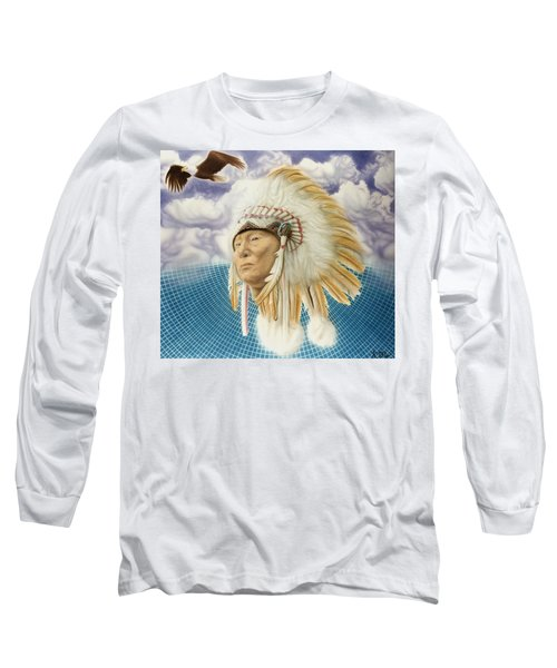 Proud As An Eagle Long Sleeve T-Shirt by Rich Milo