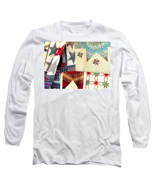Long Sleeve T-Shirt featuring the photograph Quilts For Sale by Janette Boyd