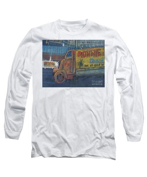 Long Sleeve T-Shirt featuring the painting Ronnie John's by Donald Maier