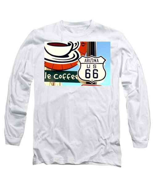 Route 66 Coffee Long Sleeve T-Shirt by Valerie Reeves