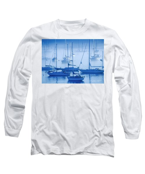 Sailboats In The Fog - Maine Long Sleeve T-Shirt