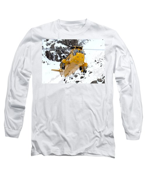 Seaking Helicopter Long Sleeve T-Shirt by Paul Fearn