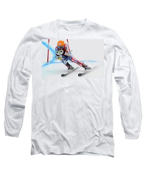 Ted Ligety Skiing  Long Sleeve T-Shirt