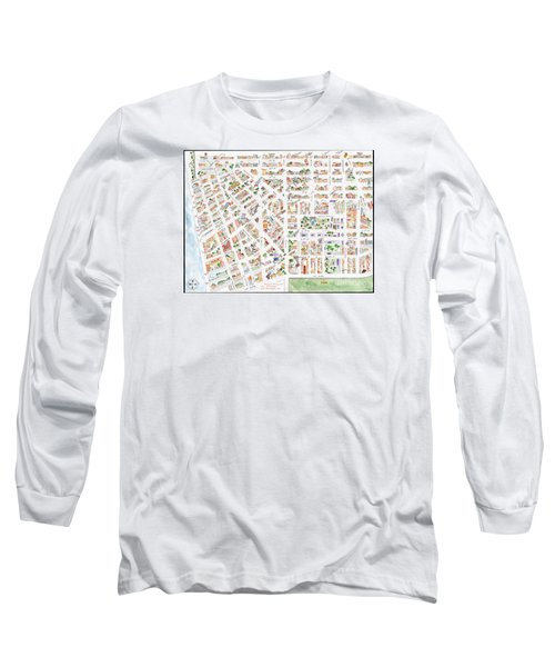 The Greenwich Village Map Long Sleeve T-Shirt by AFineLyne