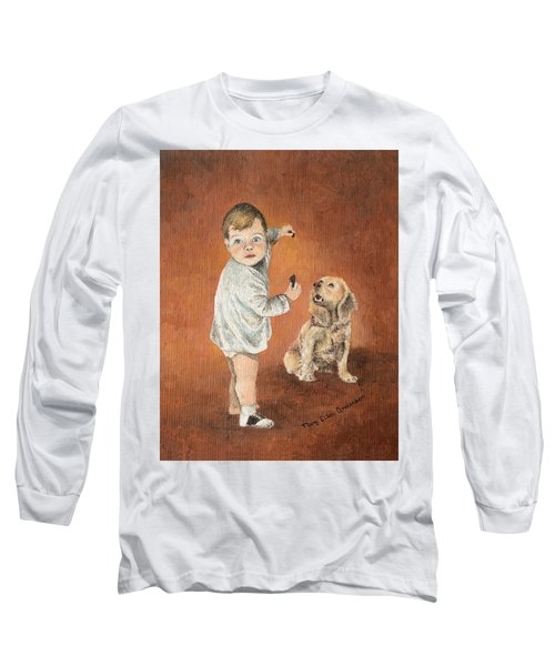 Long Sleeve T-Shirt featuring the painting The Guilty Ones by Mary Ellen Anderson