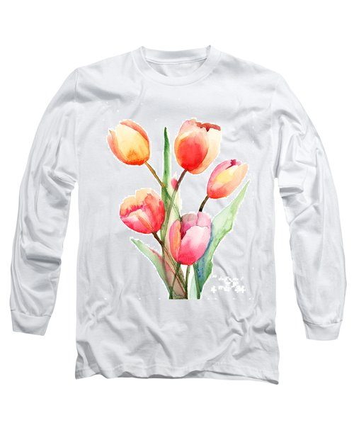 Tulips Flowers Long Sleeve T-Shirt