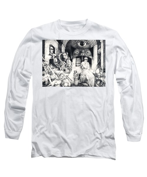 Vindobona Altarpiece IIi - Snakes And Ladders Long Sleeve T-Shirt