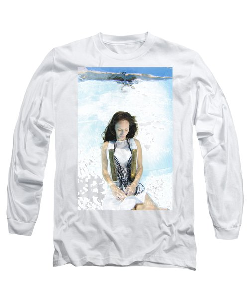 Woman Floats Underwater  Long Sleeve T-Shirt