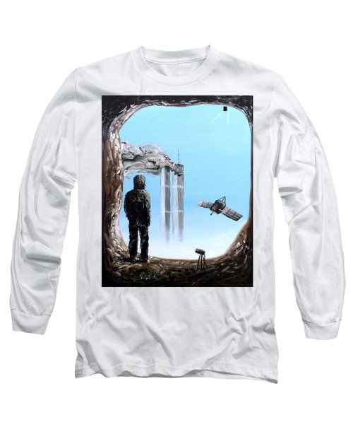 Long Sleeve T-Shirt featuring the painting 2012-confronting Inevitability by Ryan Demaree