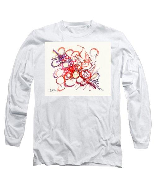 2012 Drawing #22 Long Sleeve T-Shirt by Lynne Taetzsch