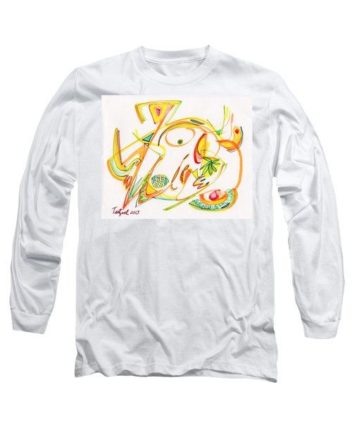 2013 Abstract Drawing #20 Long Sleeve T-Shirt by Lynne Taetzsch