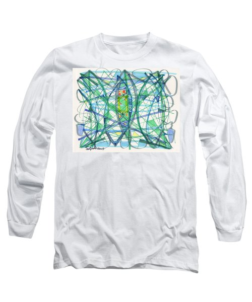 2013 Abstract Drawing #23 Long Sleeve T-Shirt by Lynne Taetzsch