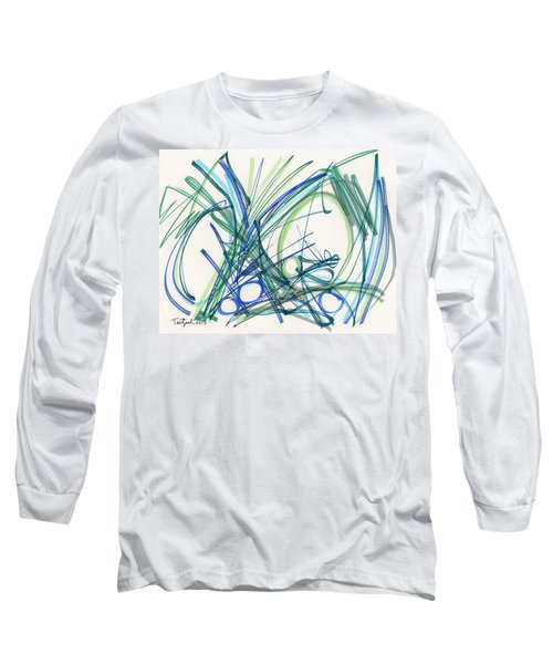 2013 Abstract Drawing #8 Long Sleeve T-Shirt by Lynne Taetzsch