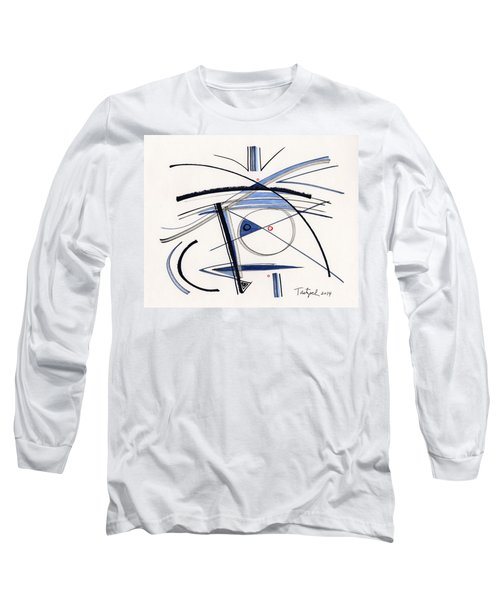 2014 Abstract Drawing #1 Long Sleeve T-Shirt by Lynne Taetzsch
