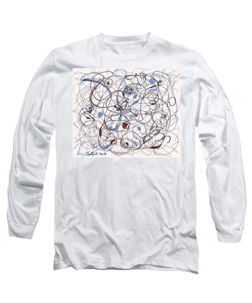 2014 Abstract Drawing #6 Long Sleeve T-Shirt by Lynne Taetzsch