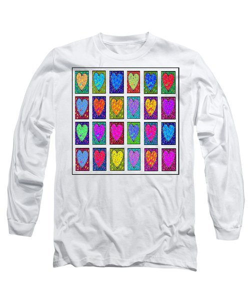 24 Hearts In A Box Long Sleeve T-Shirt