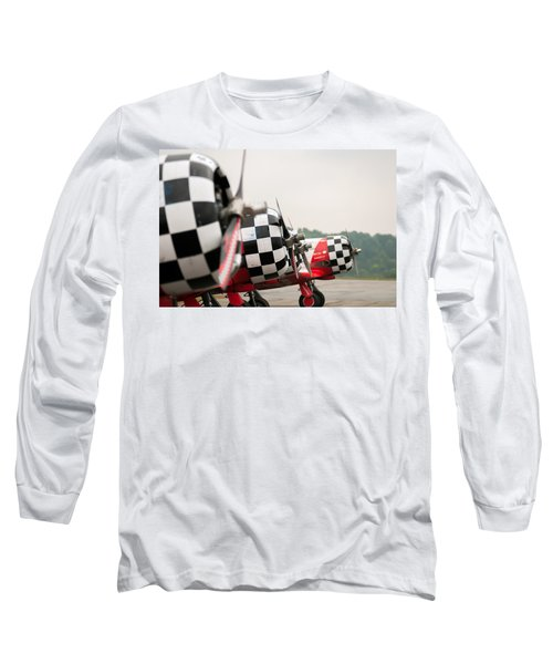 Long Sleeve T-Shirt featuring the photograph Airplanes At The Airshow by Alex Grichenko