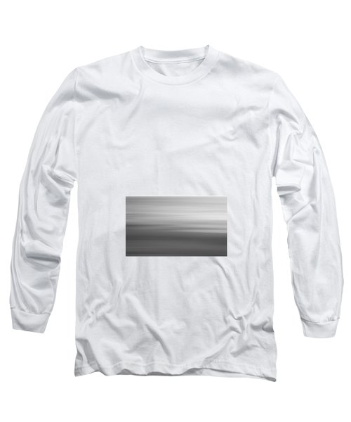 Black And White Abstract Seascape No. 02 Long Sleeve T-Shirt