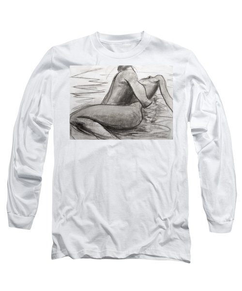Long Sleeve T-Shirt featuring the painting Deep Love by Jarmo Korhonen aka Jarko