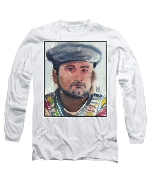 Long Sleeve T-Shirt featuring the painting Emilio by Donald Maier