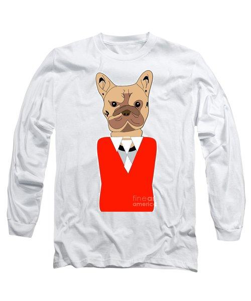 French Bulldog Painting Long Sleeve T-Shirt