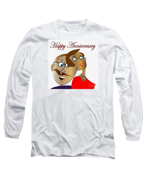 Long Sleeve T-Shirt featuring the digital art Happy Anniversary by Iris Gelbart