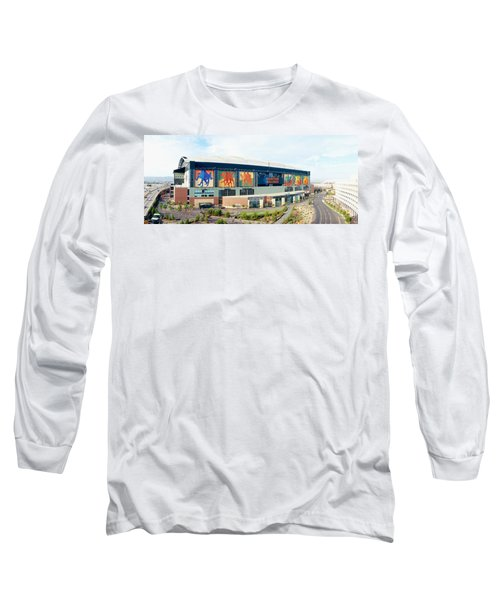 High Angle View Of A Baseball Stadium Long Sleeve T-Shirt by Panoramic Images
