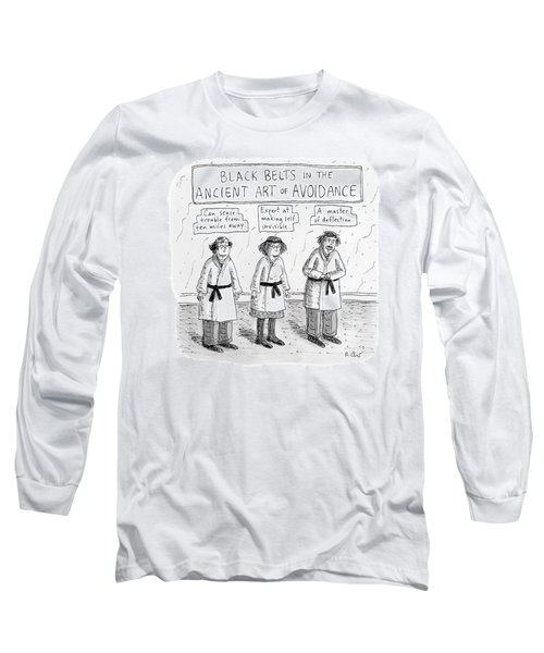 3 Middle-aged People In Karate Uniforms -- Black Long Sleeve T-Shirt