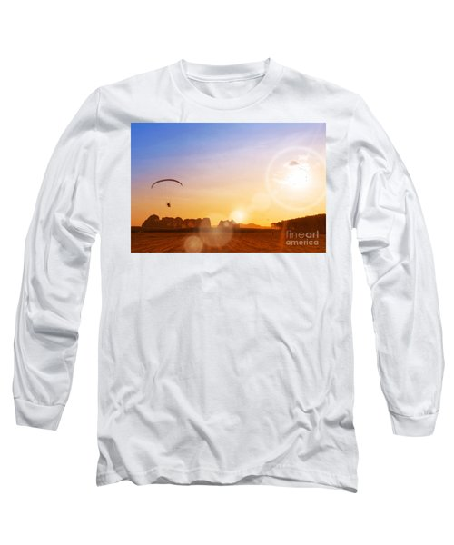 paramotor at Krabi province Long Sleeve T-Shirt