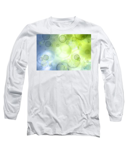 Abstract Background Long Sleeve T-Shirt by Les Cunliffe