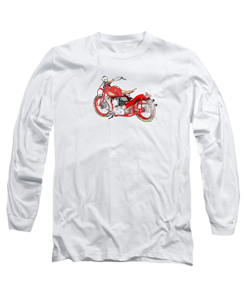 Long Sleeve T-Shirt featuring the drawing 37 Chief Bobber by Terry Frederick