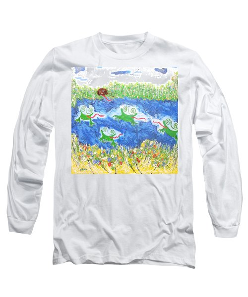 4 Frogs And A Bear Long Sleeve T-Shirt
