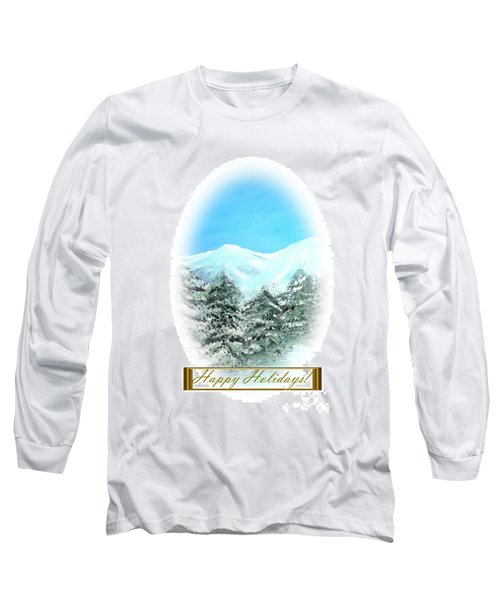 Happy Holidays. Best Christmas Gift Long Sleeve T-Shirt by Oksana Semenchenko