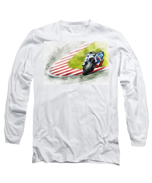 Jorge Lorenzo - Team Yamaha Racing Long Sleeve T-Shirt