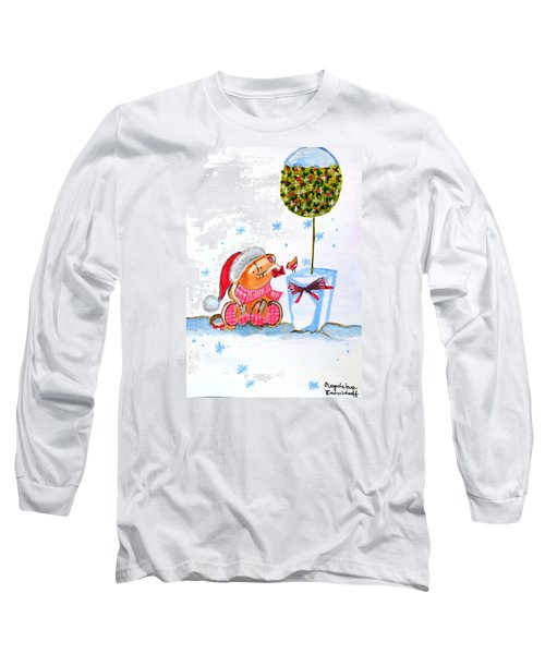 Merry Christmas Long Sleeve T-Shirt by Magdalena Frohnsdorff