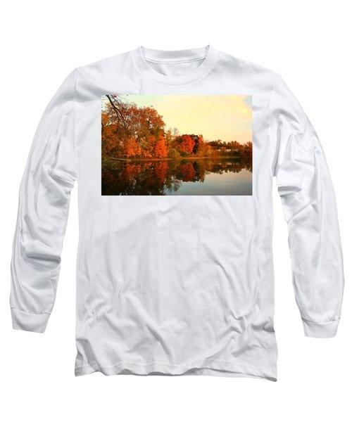 Shady Oak Lake  Long Sleeve T-Shirt by Amanda Stadther