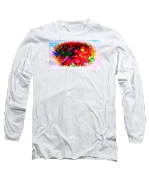 The Flowers In Fiery Red Long Sleeve T-Shirt